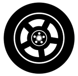 redline tire and auto tire icon
