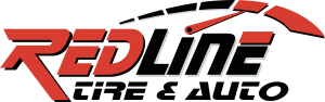 redline tire and auto logo
