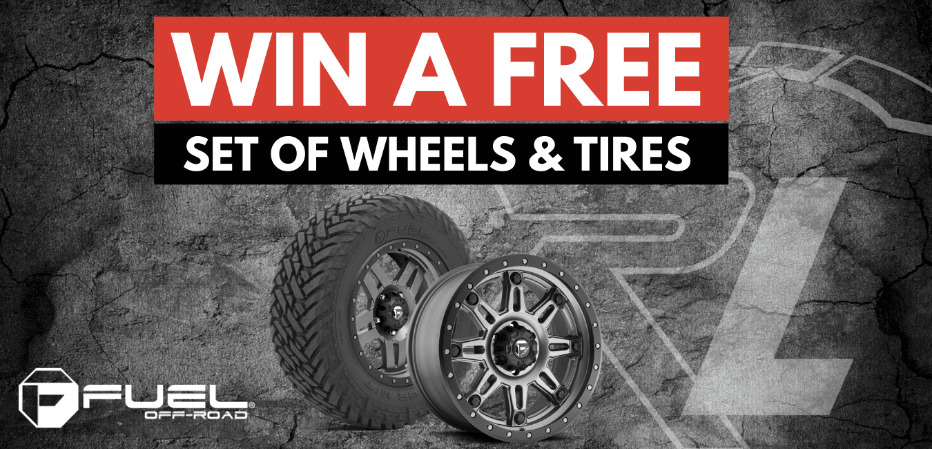 win a free set of wheels and tires banner