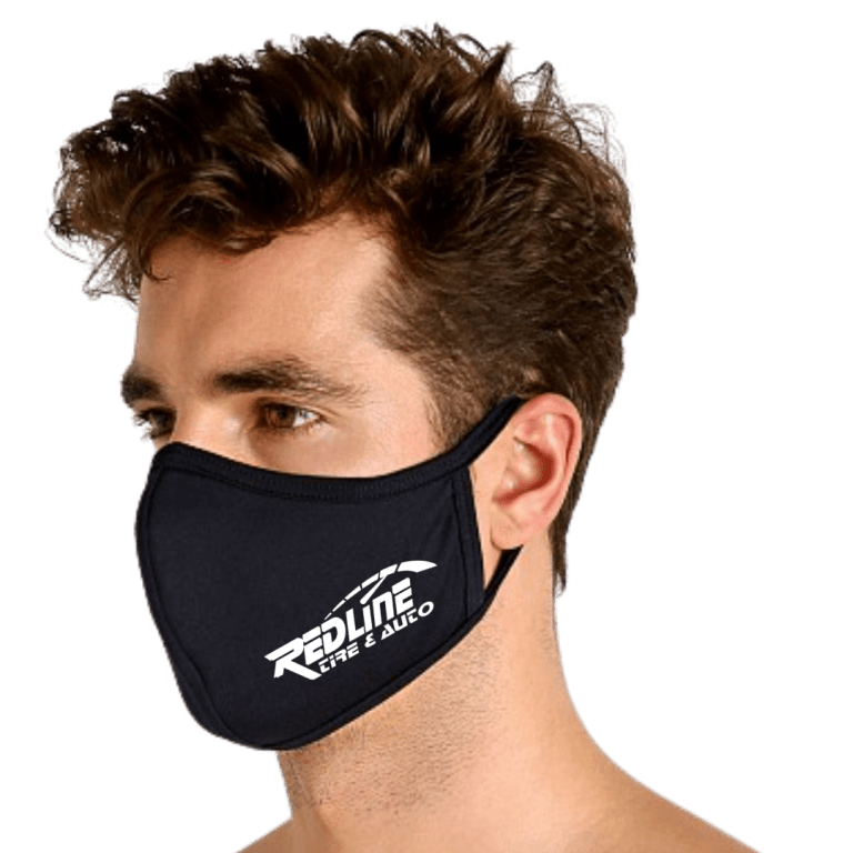 redline tire and auto repair face mask in fayetteville nc
